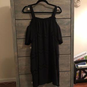 LOFT black dress on or off shoulder style!
